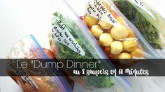 Dump dinner Wooloo Dump Dinners, Freezer Meals, Veg Recipes, Vegetarian Recipes, Batch Cooking, Make It Simple, Meal Prep, Crockpot, Slow Cooker