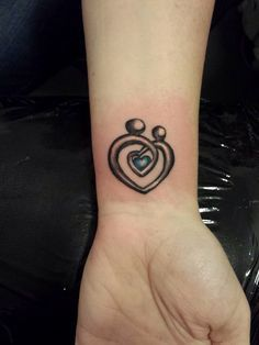 My New 'Mother & Son' Tattoo  instead of a heart I would do a puzzle piece.
