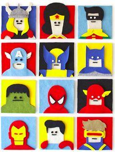 Feltro, amore e fantasia via @Viraland #superheroes #batman #flash #hulk