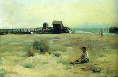 Boy On A Beach (Walter Frederick Osborne - )