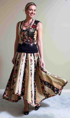 My Gypsy skirt and vest embellished with 3D embroidery.