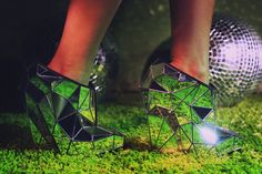 Invisible shoe by Andriea Chaves, editorial via Solestruck
