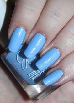 This is Jesse's Girl Julie G Nail Polish in the shade Santorini Fun nail… art polish stickers art designs nails designs art nails nails nails shop # Pedicure Nail Designs, Pedicure Nails, Cool Nail Designs, Manicure, Blue Nail Polish, Blue Nails, Nail Care Tips, Nail Tips, Acrylic Nail Art