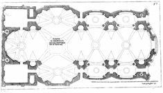 The plan for Guarini's Lisbon church, in the 1686 (above) and 1737 (below) versions