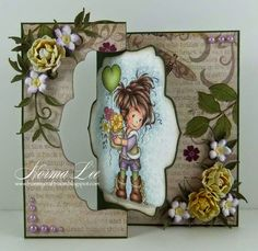 From My Craft Room: Die Cut Swing Card - A Splitcoaststampers Tutorial Flip Cards, Fancy Fold Cards, Folded Cards, Screen Cards, Paper Art, Paper Crafts, Swing Card, Snowflake Cards, Whimsy Stamps