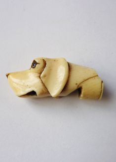 Victorian Ivory Dog Head Whistle