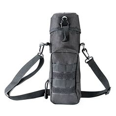 Lilys GiftMilitary Tactical Molle Camping Hiking Water Bottle Bag Pouch Carrier Black >>> You can get additional details at the image link. #WaistPacks