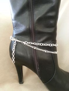 391ea3cbb7d Rhinestone Drop Boot Anklet Bling by HowlingWolvesJewelry on Etsy