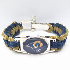 NFL Los Angeles Rams Football Team Paracord Bracelet 6878cdfd5