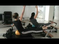 Fun Variations for jumping on the Pilates Reformer using the jumpboard! Pilates Poses, Pilates Reformer Exercises, Pilates Workout, Pilates Routines, Pilates Fitness, Pilates Instructor, Pilates Studio, Pilates Machine, Total Gym Workouts