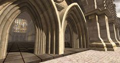 Morphe, Inc. Cathedral shown as an example of beautiful creations in SL, Engadget.com article! Second Life's second act will be a social network for virtual reality