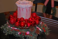 Last year I showed a few nice centerpiece ideas that use things you probably already have on hand…some extra ornaments, a trifle bowl, a cake stand… Everyday things like that come together and make a cute centerpiece for your dining Christmas Centerpieces, Table Centerpieces, Centerpiece Ideas, Christmas Time, Create, Google, Kitchen, Decor, Image
