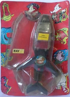 The slingshot jet from Mask in black repackaged as a real ghostbusters toy in Argentina