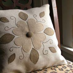 felt appliqued pillow