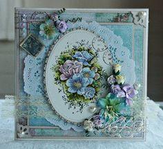 Audhilds Hobbyblogg: Gratulasjonskort med blomster