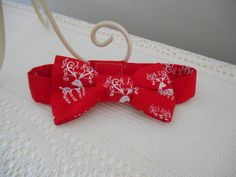 'Christmas Inspired' Boys Bow Tie ComfyBabes@etsy.com.au #boys #bowtie #Christmas #reindeer