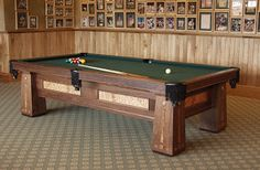 Dorset Custom Furniture - A Woodworkers Photo Journal: a custom pool table Custom Pool Tables, Table Games, Game Tables, Video Games For Kids, Photo Journal, Dinners For Kids, Healthy Snacks For Kids, Custom Furniture, Tennis