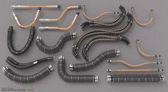 ArtStation - Hard Surface Kitbash Library - Cables/Hoses/Tubes, Mark Van Haitsma