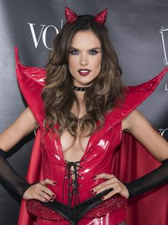Pin for Later: Alessandra Ambrosio Wore a Devil Costume Fit For an Angel at Her Halloween Party
