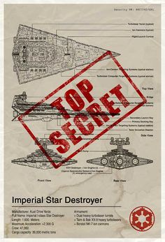 Star Wars Blue Print Designs - Imperial Star Destroyer | source: http://www.flickr.com/photos/85791047@N00/