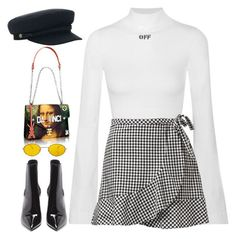 """Sin título #1414"" by osnapitzvic ❤ liked on Polyvore featuring Off-White, Brixton and Yves Saint Laurent"