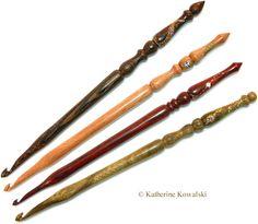 Katherine Kowalski - Professional Woodturner & Artist: Signature Ornate Crochet Hooks