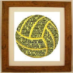 Personalised Water Polo Word Art Gift by ArtyAlphabet on Etsy