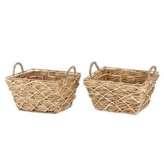 Better Homes & Gardens Rectangle Water Hyacinth Basket Set