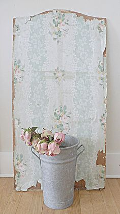 vintage wallpaper  I LoVe This!!!  Probably from the back of an old cupboard...