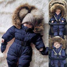 This is a link to Amazon and as an Amazon Associate I earn from qualifying purchases. Sameno Infant Toddler Baby Girls Boys Winter Down Snowsuits Romper Jacket Hooded Jumpsuit Warm Thick Coat Outfit #babyclothes #babysnowsuit Girls Winter Outfits, Girls Winter Coats, Winter Fashion Outfits, Baby Boy Outfits, Kids Outfits, Kids Coats, Baby Boys, Baby Girl Newborn, Baby In Snow