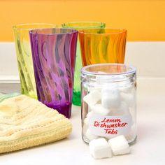 DIY Lemon Dishwasher Detergent Cubes