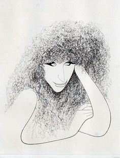 Barbara Streisand by Al Hirschfeld,