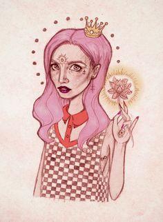 Lotus girl by memia.deviantart.com on @DeviantArt
