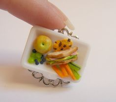 Food Jewelry Cafeteria Lunch Miniature Food Ring by NeatEats, £12.99