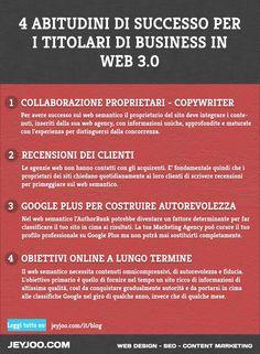 Abitudini che i proprietari di siti web dovrebbero adottare per avere successo sul Web 3.0