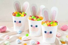 How to Make Sweet Bunny Boxes Paper Cups Cactus Painting, Watercolor Cactus, Paper Cup Crafts, Diy And Crafts, Paper Cups, Kinds Of Cactus, Funny Easter Bunny, Cactus Pictures, Cup Art