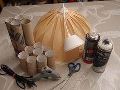 LUOVA KELLARI: Tyhjistä vessapaperirullista lampunvarjostin