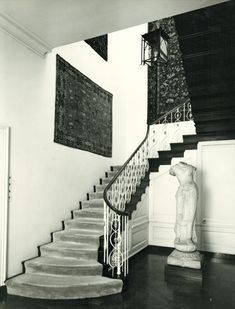 740 Park Avenue, NY - Rosario Candela.  Rockerfeller Apartment - main staircase.