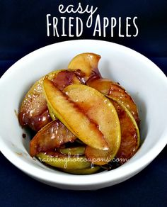 "Fried Apples Recipe Hope they are like Cracker Barrels fried apples!----------- trying the pie for the next football game.......I love ""Cracker Barrel"" apples.,this will be good while I am not using my oven"