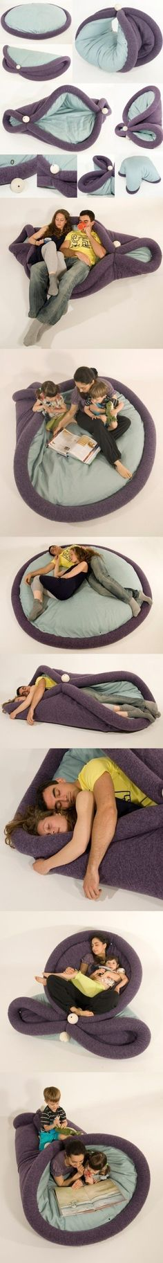 Lovely idea, like a soft furniture!