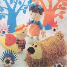 vintage 4885 Style MAGIC ROUNDABOUT toy sewing by bekabeka75, $30.00
