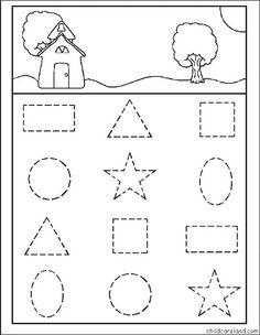 Find de samme former Printable Puzzles, Preschool Printables, Preschool Crafts, Learning Shapes, Home Learning, Pre K Activities, Infant Activities, 2d And 3d Shapes, Shape Games