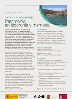 """Patrimonio Industrial Arquitectónico: Curso """"La industria en el paisaje: patrimonio en i..."""