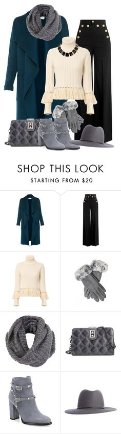 """""""Coat & Scarf"""" by lois-boyce-flack ❤ liked on Polyvore featuring L.K.Bennett, RED Valentino, Jonathan Simkhai, Miss Selfridge, Valentino, Calypso Private Label, scarf, coat and fashionset"""