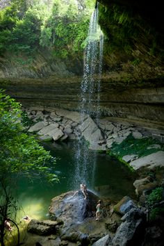Swim in the Hamilton Pool Nature Preserve swimming hole in Texas