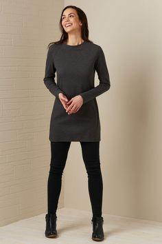 Fair Trade Organic Modern Mini Dress by Fair Indigo