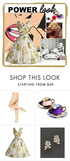 """""""old yellow"""" by lareine-mina ❤ liked on Polyvore featuring Bloomingdale's"""
