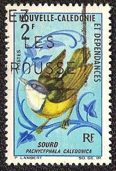 oiseau-siffleur-caledonien-timbre-nouvelle-caledonie.
