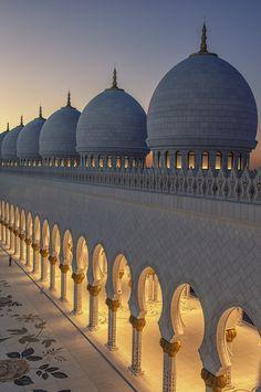 Spiritual by O Al Zubaidi  Domes and Posts of Sheikh Zayed Grand Mosque