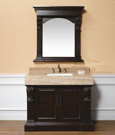 """Bathroom Vanities :: James Martin Furniture-206-001-5176 42"""" Newport Single Sink Antique Bathroom Vanity"""